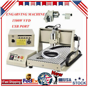 Usb 4 Axis Cnc 6040 Router Engraver Machine Engraving Drilling Machine Pcb 1 5kw