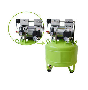 Medical Noiseless Oil Free Oilless Air Compressor 40l155l min For 2 Dental Chair