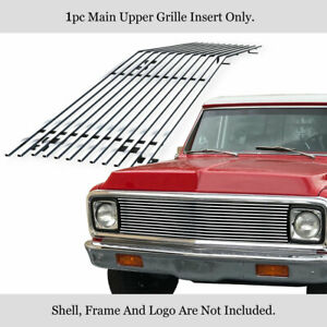 Fits 1969 1972 Chevy C K Pickup Suburban Upper Stainless Chrome Billet Grille