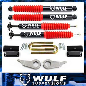 3 Front 3 Rear Lift Kit W Blocks And Shocks For 1998 2011 Ford Ranger 2wd 4x4