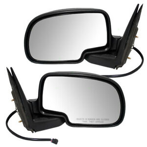 Pair Set Power Side View Mirrors W Cap For Cadillac Chevy Gmc Pickup Truck Suv