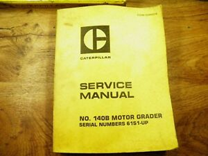 Cat Caterpillar 140b Grader Service Manual 61s