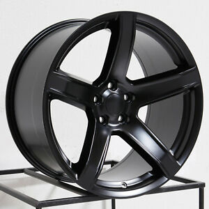 20x9 5 20x10 5 Vors Dg09 Fit Dodge Charger Challenger 5x115 15 22 Black Wheels R