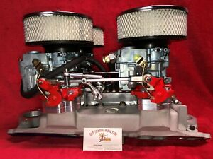 Offenhauser 4 deuce Fuel System For Small Block Chevy
