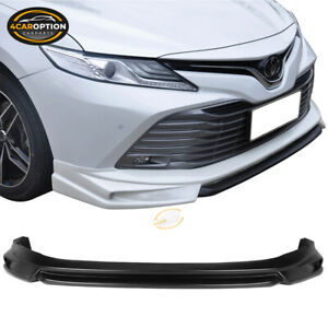 Fits 18 20 Toyota Camry Le Ikon Style Front Bumper Chin Lip Splitter Pp
