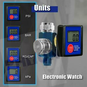 1 4 Digital Spray Paint Gun Air Flow Regulator Air Pressure Regulator Gauge