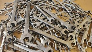 Mixed Lot Of 50 Wrenches No Guarantee On Size Or Brand See Description