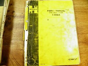 Hyster C350a Steel Wheel Roller Parts Manual