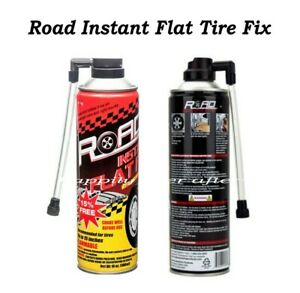 Road Instant Flat Tire Fix With Hose 16oz Tire Inflator Air Filler Sealant