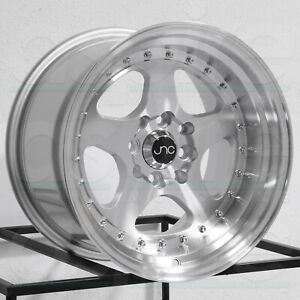 17x9 Jnc 010 5x100 25 Silver Machine Face Wheels Rims Set 4 73 1