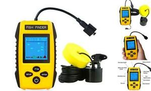 Venterior VT-FF001E Fish Finder  Portable Fishfinder with Water Depth  Fish Loca