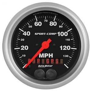 Autometer 3982 Sport comp Gps Speedometer With Fluorescent Red Pointer