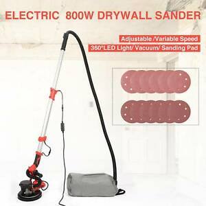 Electric Drywall Sander 800w With 360 Led Light And Vacuum 6 speed Adjustments