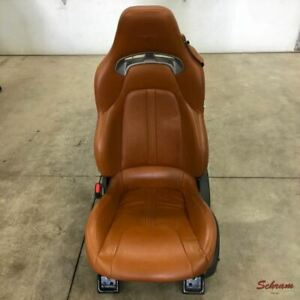 13 17 Dodge Viper Driver Front Seat Bucket Brown Leather Electric Oem 1922870