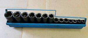 Matco Tools 3 8 Deep Metric 14 Pc Impact Socket Set In Steel Rack 8mm 24mm Usa