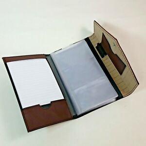 Rolodex Padfolio Brown Business Card Holder Office Business Accessory Organizer