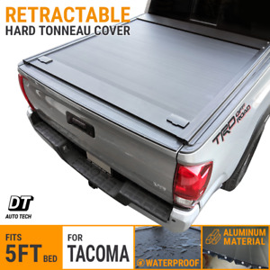 For 2016 2021 Tacoma 5ft Bed Tonneau Cover Aluminum Retractable Roll Waterproof