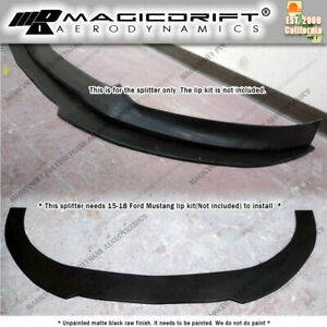 For 15 17 Ford Mustang Front Bumper Flat Chin Splitter Bottom Lip Diffuser