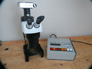 Bausch Lomb Stereo Zoom 7 Microscope W camera Ax1 Shutter Exposure Works Great