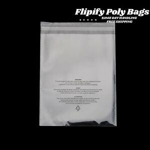 Clear Poly Suffocation Warning Self Seal Fba Bags 6 x9 8 x10 9 x12 11 x14