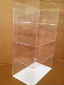 Usa acrylic Display Case 12 X 7 X 20 5 different Spacing Showcase Cabinet