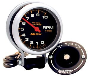 Autometer 6601 Pro Comp Memory Tachometer With Silver Dial Face