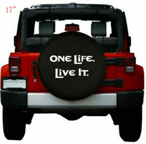 17 Spare Tire Cover Wheel Protectors Pu Leather For Jeep Wrangler 32 33
