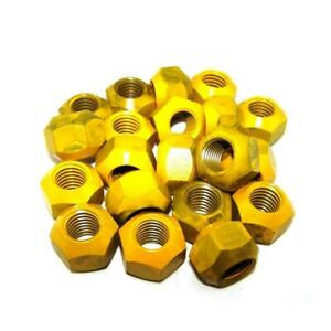 Krc Racing Lug Nuts 5 8 11 Conical Seat 45 Degree Set Of 20 Yellow