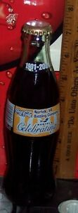 2001 NORFOLK  CELEBRATING COCA COLA BOTTLING CO 100TH ANNIV 8OZ COCA COLA BOTTLE