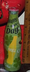 2014 WORLD OF COCA COLA HAPPY ST PATRICK'S DAY  8 OZ COCA COLA BOTTLE