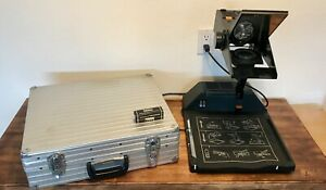 Bell Howell Model 1707l Overhead Projector With Spare Bulb Manual And Case