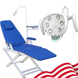 Portable Dental Mobile Chair W rechargeable Led Light Oral Lamp Led Light