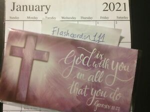 2021 2022 God Is With You Two Year Planner Pocket Purse Calendar 2 Year Datebook