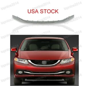 Chrome Front Bumper Moulding Lower Cover Trim Grille For Honda Civic 2013 2015