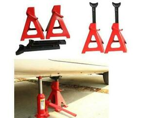 Hot 1 Pair Of 6 Ton Jack Stands Red For Car Vehicle Maximum Height 16 9 10