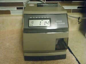 Amano 3000xn Date time Stamp Multi Functional Time Clock In Out