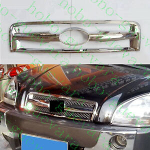 1pcs For Hyundai Tucson 2005 2009 Front Upper Grill Decorator Grille Cover Frame
