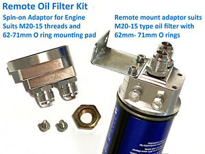 Remote Mount Oil Filter Cooler Universal Mounting Kit Adaptor 4wd Offroad Race