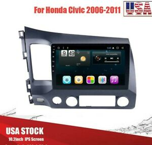 10 1 Android 9 1 Car Radio Stereo Mp5 Player Wifi Gps For Honda Civic 2006 2011