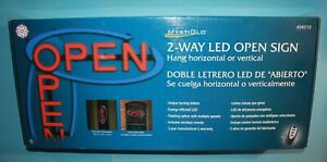 Mystiglo 2 Way Led Open Sign Horizontal Or Vertical Remote Control Included New