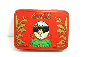 NEW Vintage Coca Cola Playing Cards With Storage Tin And 2 Card Decks Sealed