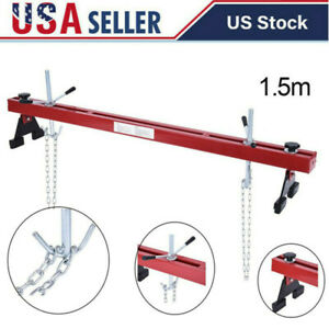 1100lbs Engine Load Leveler Capacity Support Bar Transmission W Dual Hook