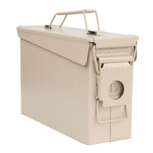 RC Tan Waterproof Ammo Box 30 Cal Large Ammo Storage Container with Flip Top $12.99