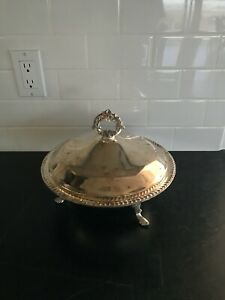 Antique F B Rogers Silver Co 1158 Covered Casserole Dish