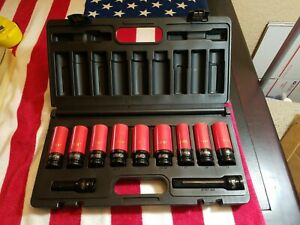 Mac Tools 1 2 Drive Wheel Protecting Socket Set Impact Standard Metric New