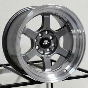 17x9 Mst Time Attack 5x114 3 20 Gunmetal Wheels Rims Set 4