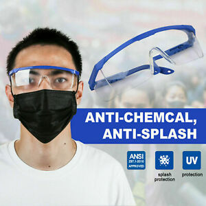 Safety Goggles Over Glasses Lab Work Eye Protective Eyewear Clean Lens Usa