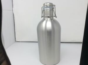 Clearance Beer Growler 2 L 67 Oz Double Wall Stainless Steel W Swing top