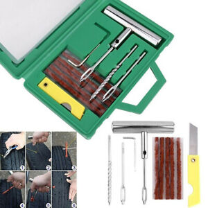 Tire Repair Kit Heavy Duty Puncture Fix Tool Plug Fit Car Truck Motorcycle Bjfeh