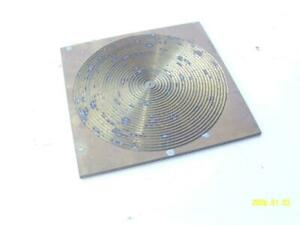 Green Engraving Pantograph Pattern Template Concentric Circles